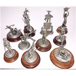 American Indian Pewter Sculptures by Chilmark (10)  [131342]