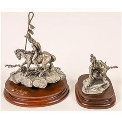 Boyett & Pollard Pewter Sculpture Pieces (2)  [131137]