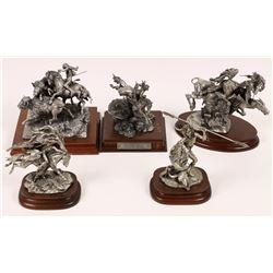 Buffalo Pewter Statues (5)  [129970]