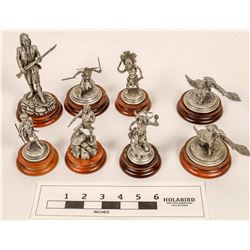 Southwest Indians Pewter Statues (8)  [129966]
