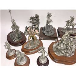 Chilmark Western Themed Pewter Figures (15)  [131340]