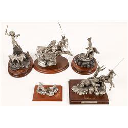 Hunter & Great Spirit American Indian Sculptures (5)  [131135]