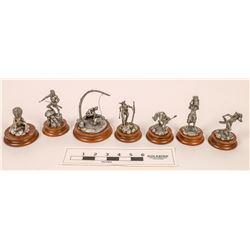 Native American Pewter Statues, All Same Serial Number 283/2500 (7)  [129961]