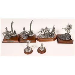 Pewter Sculptures, Chiefs Group - 6 pcs  [131901]