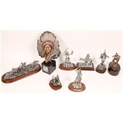 Pewter Sculptures, Tribe Group - 16 pcs  [131911]
