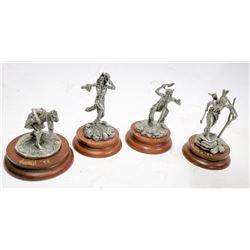 Quartet of Polland Pewter Sculptures (4)  [131344]