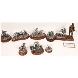 Pewter Sculptures, War Group - 9 pcs  [131912]