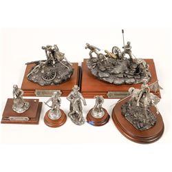 Civil War Pewter Sculptures (7)  [131141]