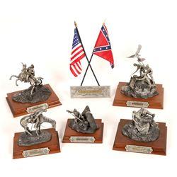 Chilmark Civil War Pewter Sculptures (5)  [131149]