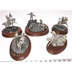 Chilmark Custer's Last Stand Pewter Figures (5)  [131339]