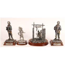 Pewter Sculptures, Custer Group - 4 pcs  [131906]