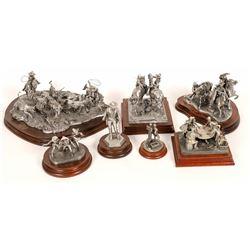 Chilmark Cowboy Pewter Sculptures (7)  [131334]