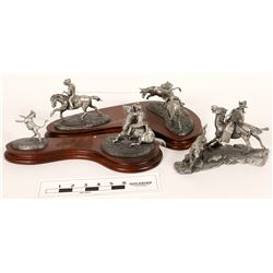Chilmark Cowboy Roundup Themed Pewter Sculptures (3)  [131336]