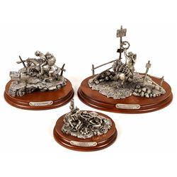 Christmas Cowboys Pewter Sculptures  [131144]