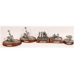 Pewter Sculptures, Christmas Group - 5 pcs  [131902]