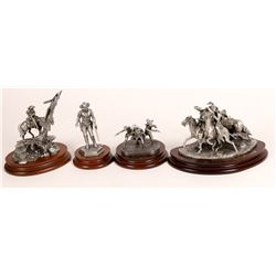 Pewter Sculptures, Outlaw Group - 4 pcs  [131908]