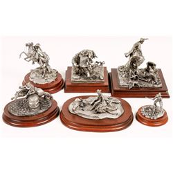 Cowboy Pewter Sculptures (6)  [129973]