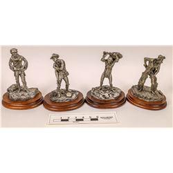 LaRocca Pewter Statues (4)  [129968]