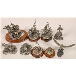 Pacific Northwest Pewter Statues (9)  [129963]