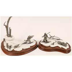 Winter Pioneers Pewter Statues (2)  [129969]