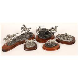 Chilmark Wild Horse Pewter Sculptures (5)  [131335]