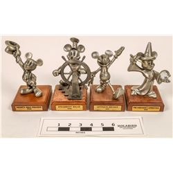 Mickey Mouse Pewter Statues (4)  [129967]