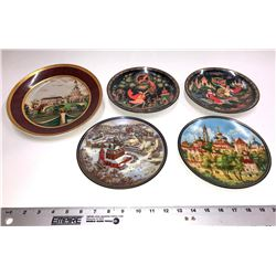 Collectible Russian Plates (5)  [131581]