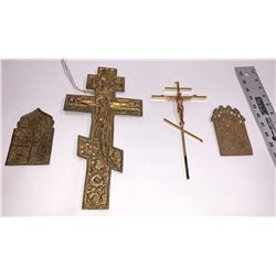 Brass Christianity Pieces from Russia (4)  [131583]