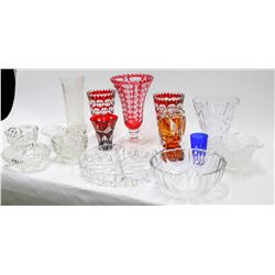 Antique Glass Vase and Bowl Group (15)  [131577]