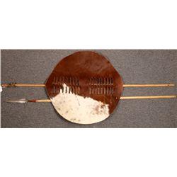 Handmade Zulu Shield and Spear.  [131425]
