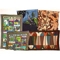 Tapestry, Hide Drawing, Cloth Print. Botswana  [131431]