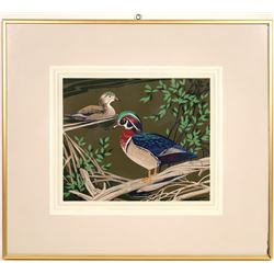A.J. Casson Framed Ducks Colour Silkscreen  [131570]
