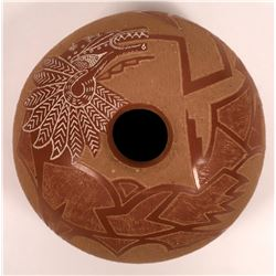 San Juan Pueblo Seed Pot by Roy Tsigowanu and Kwa Povi  [127722]