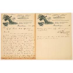 Post Office Robbery Letter, 1892, Mammoth, Arizona  [126923]