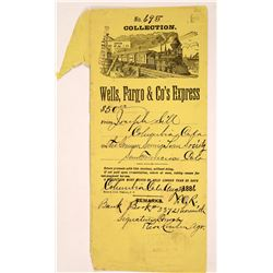 Wells Fargo & Co's Express Envelope Columbia  1886  [127919]