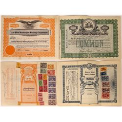 Two Real Estate Stocks w/ Lots of Adhesive Revenue Stamps  [113942]