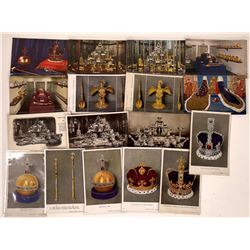 Crown Jewels and Regalia of Britain - 14 color; 3 B&W Postcards  [129055]