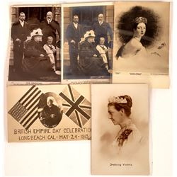 Queen Victoria Postcards - 5 B&W  [129054]