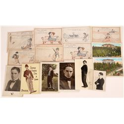 Charles Chaplin Photos & Cartoon Postcards  [128907]