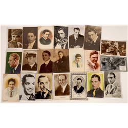 Silent Era Leading Men RPC's & Photos (20)  [128904]