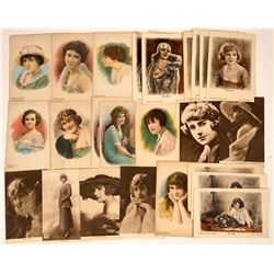 Silent Movie Actress Postcards (25)  [127490]