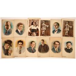 Silent Screen Actor Postcards (13)  [127491]