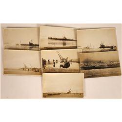 Submarine Runs Aground Postcards at Samoa, Humboldt County, Cal. 1916 (7)  [128866]