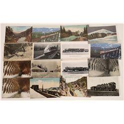 Tahoe Region Railroad Scene Postcards - 16  [128929]