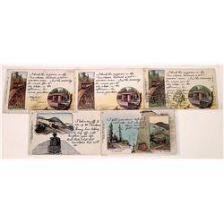 Very Rare Mt. Tamalpais Pioneer Postcard and More  [128990]
