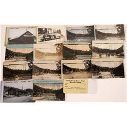 RPC's & Cards of Nevada County Narrow Gauge RR Plus Railroad Pass (14)  [127705]