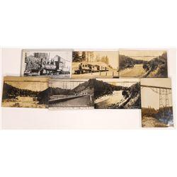Nevada County, California Narrow-Gauge Railroad RPC Postcards ~ 7 RPCs  [129013]