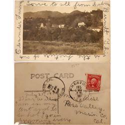 Ross Valley, California Rare Postcard - RPC  [129041]