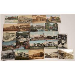 SF Bay Area Railroad Scene Postcards  [128928]