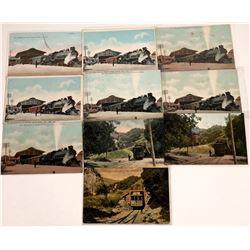 San Jose, California Railroad Postcards ~ 10 color  [129391]